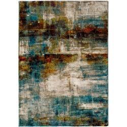 Teppich Jada in Beige/Cyan/Braun