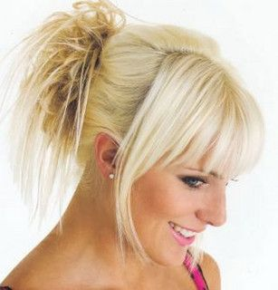 Formal Hair Bangs And Spiky Updo Hair Styles Medium Hair Styles Long Hair Styles