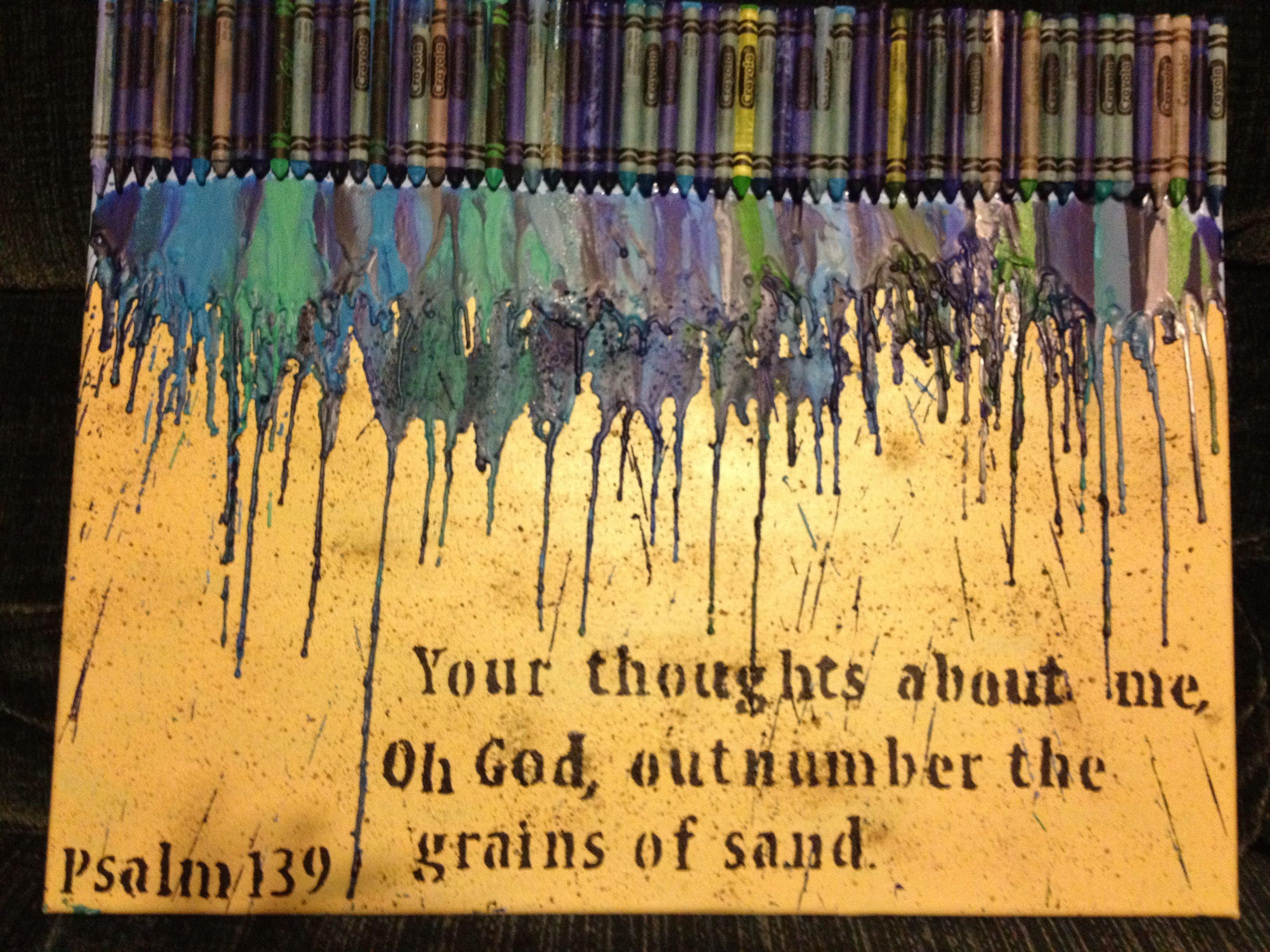 Melted Crayon Ocean Beach Scene