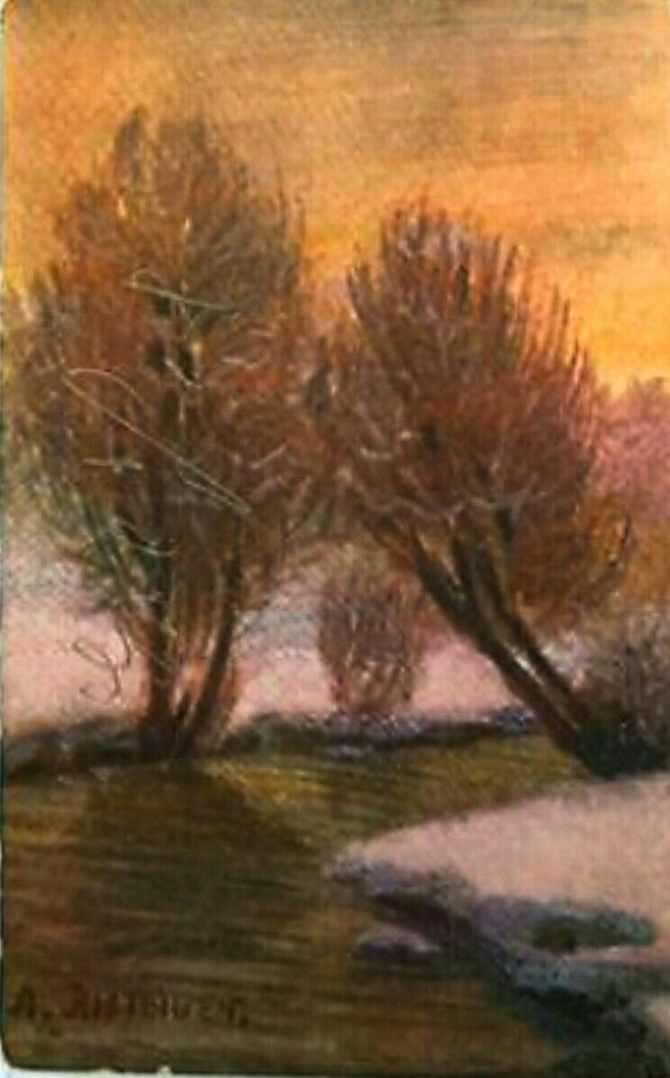 Kunstnerkort RISTEIGEN, ANSTEIN brukt 1910/20-tallet