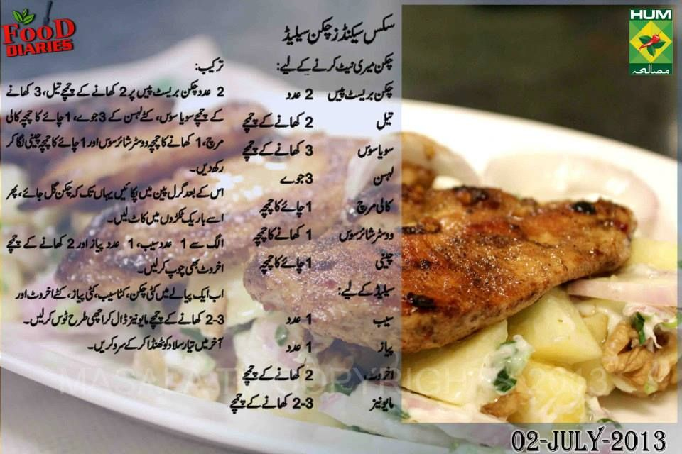 Rahat Cake Recipes In Urdu: Six Seconds Chicken Salad Urdu Recipe By Zarnak Sidhwa