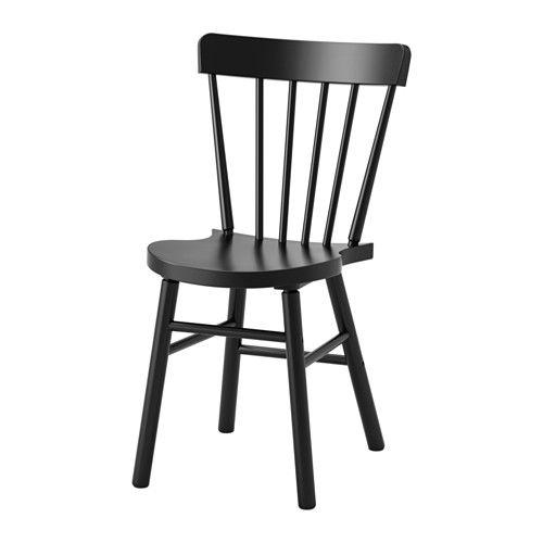 NORRARYD Chaise, noir Formes généreuses, Chaise ikea et La forme