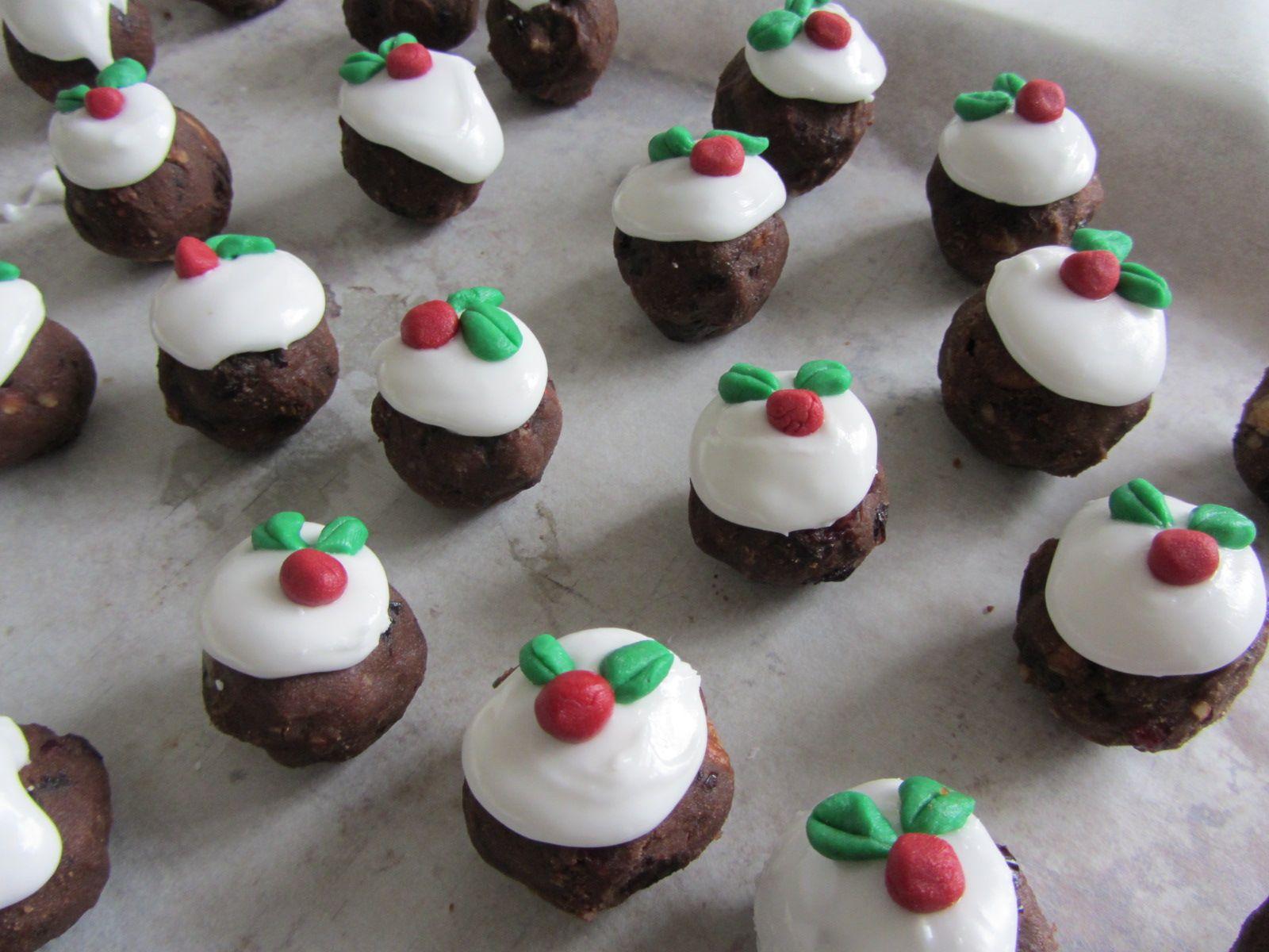 Christmas Pudding Truffles Christmas food crafts