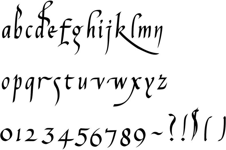 Calligraphy fonts carolingian in sequence by century