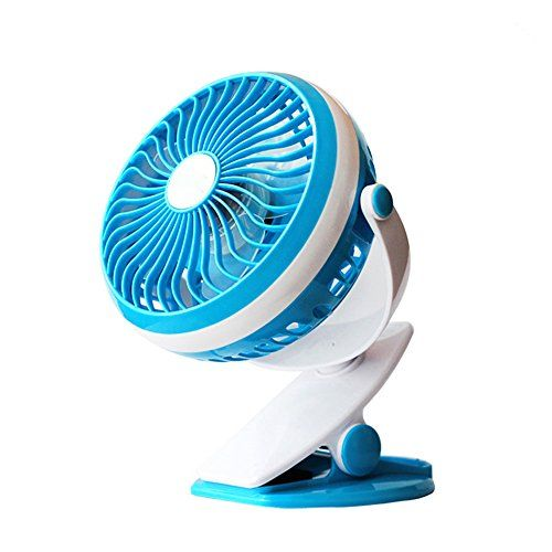 Clip on Fan Operated Mini Desk Portable Handheld Powered by Rechargeable or USB Fans for Table Bed Camping Outdoors Home Office