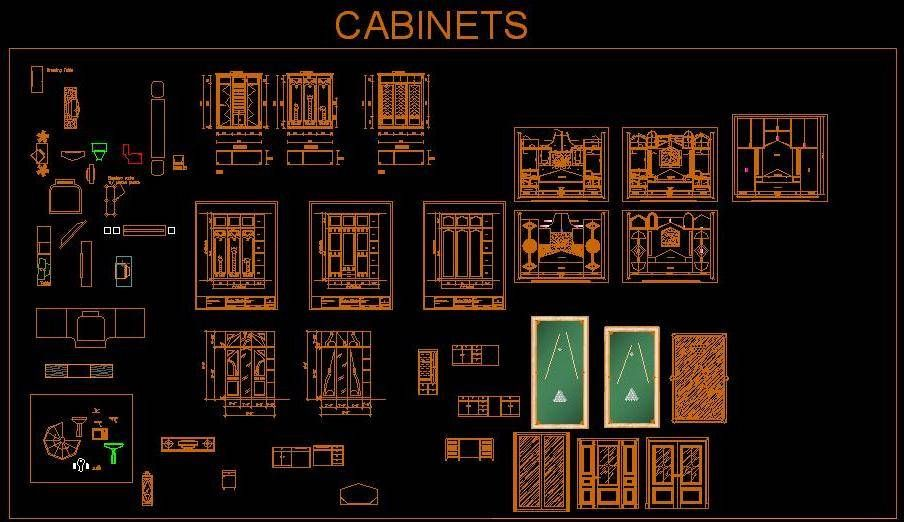Autocad #Drawing Of Various Cabinet Design Cad Block Autocad