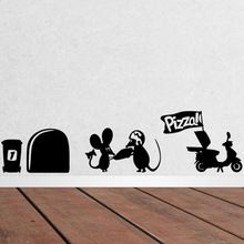 grappige muis rat gat gat muur stickers creatieve cartoon ...