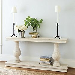entryway: like the table but with square posts from our land ...