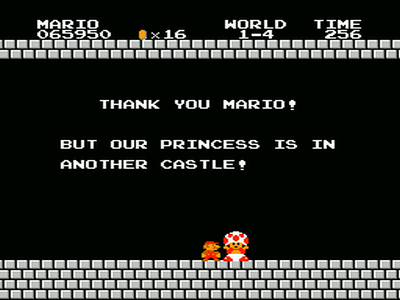 Http Thetecnica Com Wp Content Uploads 2012 02 Thank You Mario But Your Princess Is In Html1 Png Super Mario Bros Mario Bros Mario