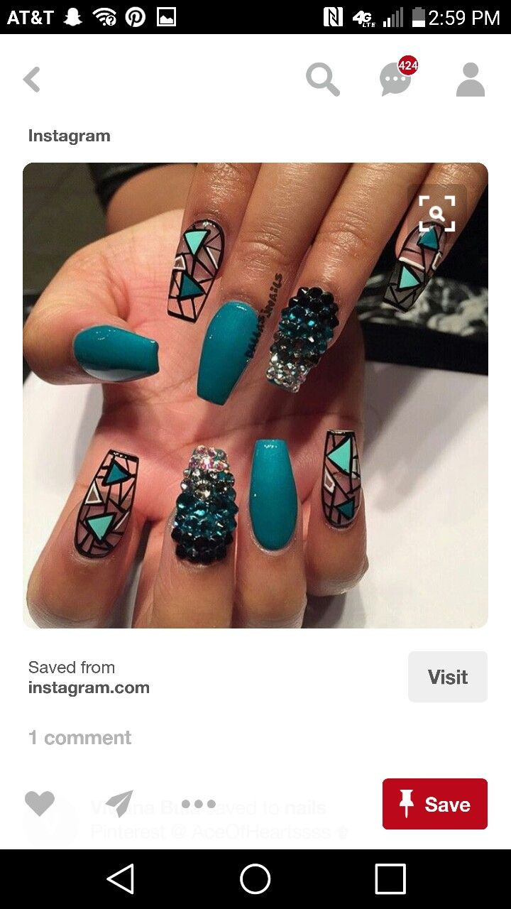 Pin de Leslie Horak en beauty | Pinterest | Diseños de uñas, Las ...