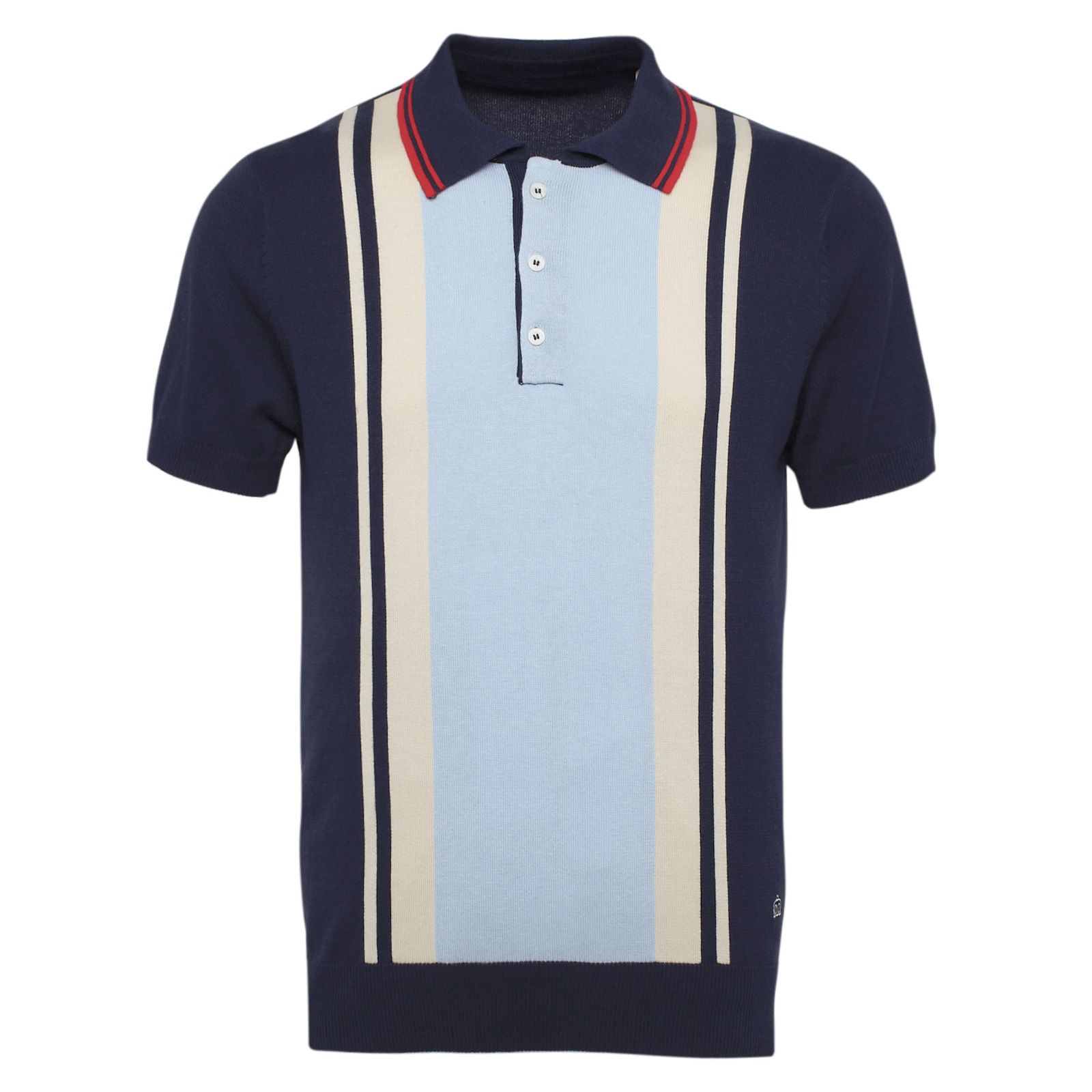 Mens Polo Bramham Knitted Polo Shirt - Available in Cream 93f1fdc9e