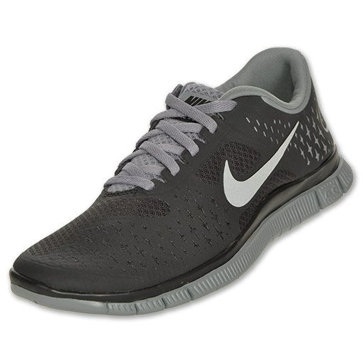 Women's Nike Free Run 4.0+ V2 | FinishLine.com | Black/Reflective Silver