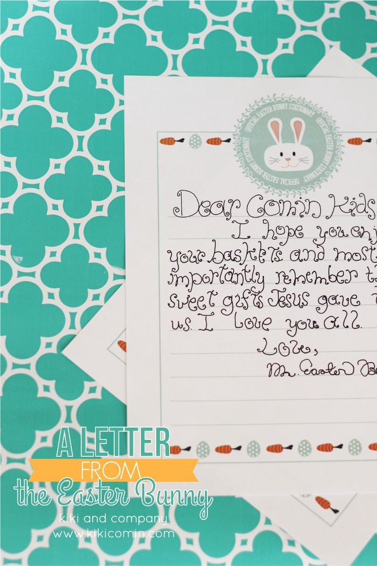 Official Easter Bunny Stationery  Official Letter Sample Easter