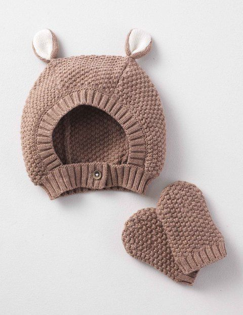 95b0efa7529 Our animal hat and mittens set is a delightful way to keep your little  critter warm