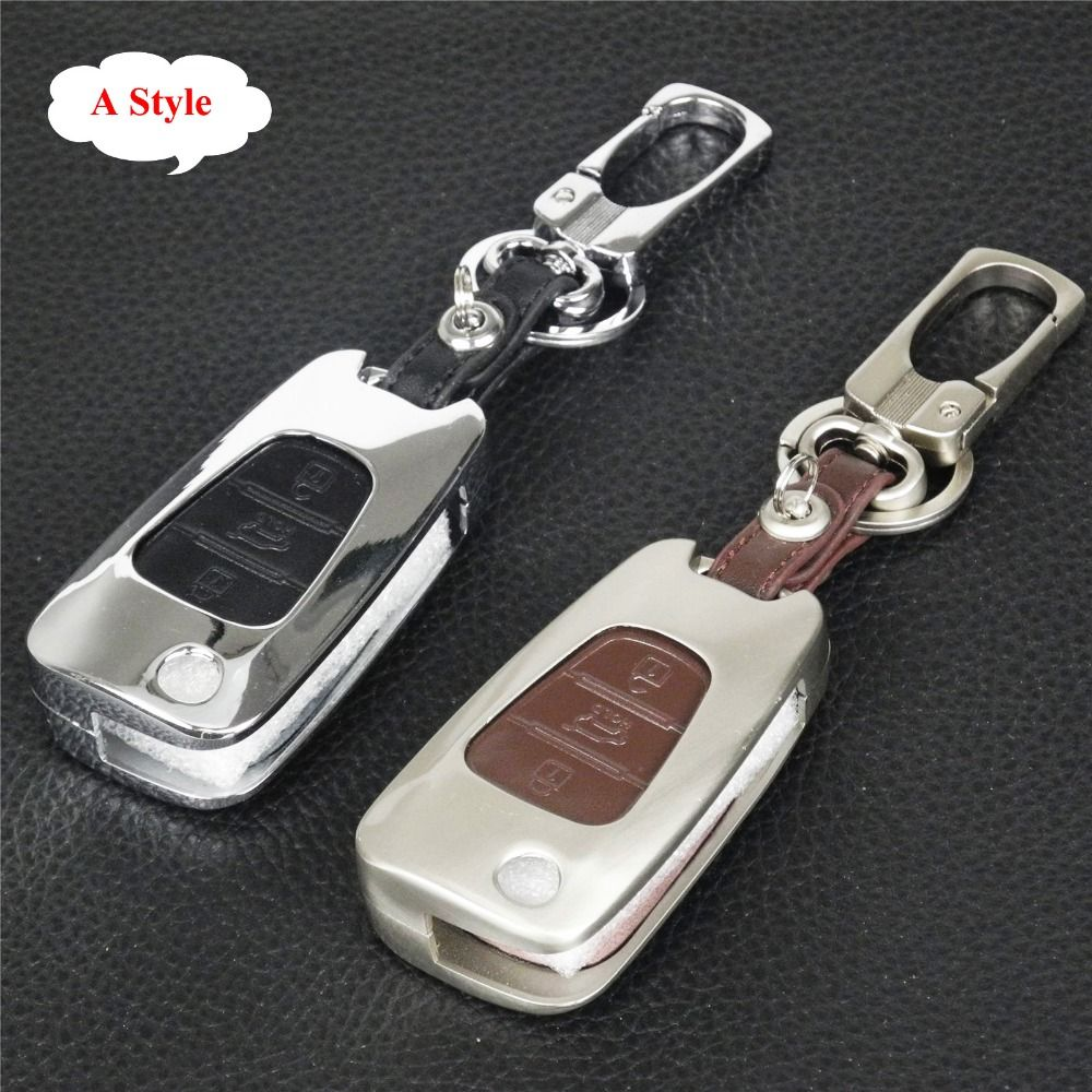 Jingyuqin Zinc Alloy Leather Key Case Chain For Ford Fiesta Focus