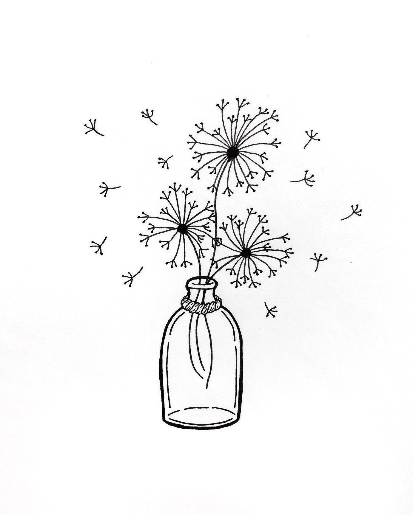 Flower Vase Watercolor Aesthetic Drawing Watercolor Flower Vase Watercolor In 2020 Line Art Drawings Flower Vase Drawing Flower Drawing