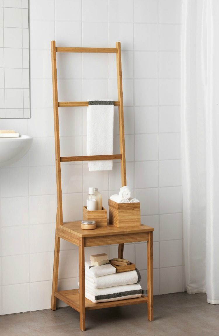 Towel Rack Chair - Mad About The House  Bathroom chair, Towel