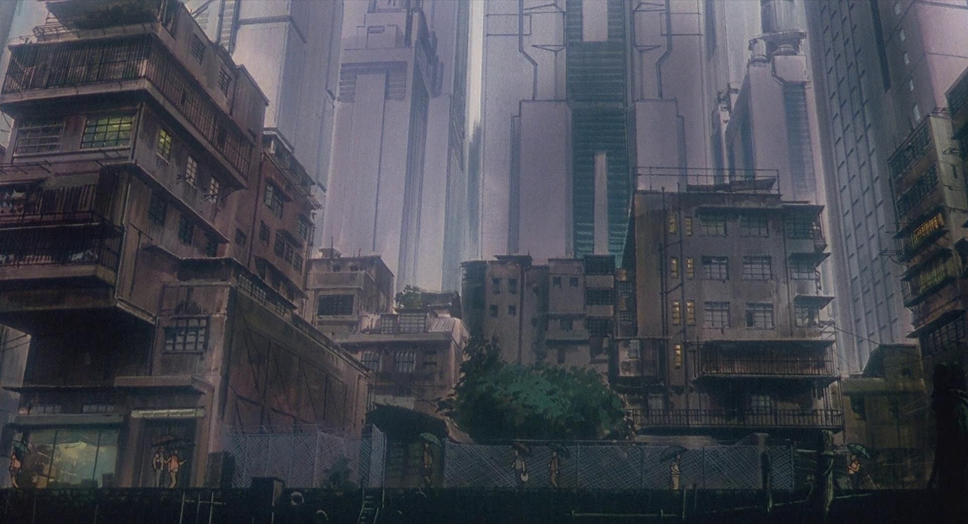 Gits Architecture Ghost In The Shell Anime Scenery Anime Background