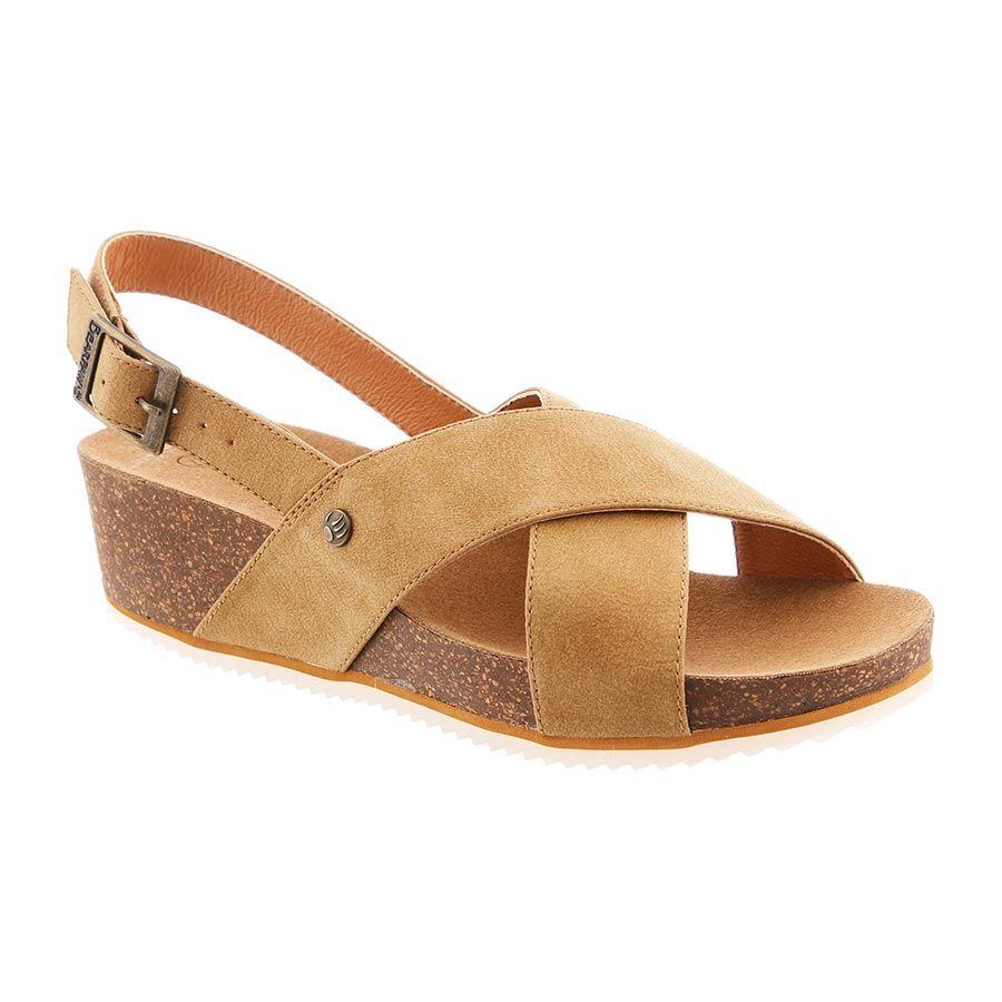 BEARPAW in color Tan | Tan sandals