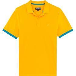 Herren Ready to Wear - Solid Polohemd aus Baumwollpikee für Herren - Polohemd - Palatin - Orange - X