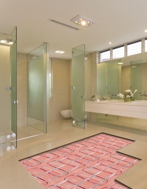 Vloerverwarming in badkamer #vloerverwarming #badkamer #interieur ...