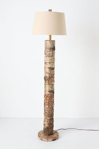 So Excited Driving In From Camp And Bing Idea For A Lamp We Ll Use One Of The Birch Trees From The Camp Road And Bam Insta Lamp Floor Lamp Wood