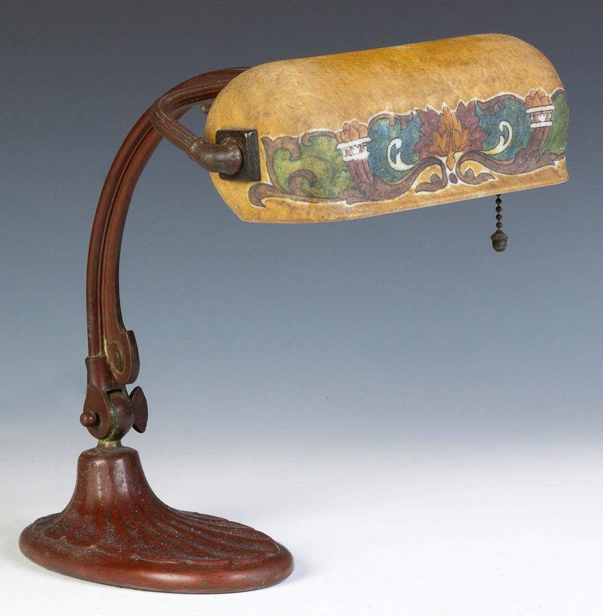 Handel Obverse Painted Arts Crafts Desk Lamp Cottone Auctions Lamp Desk Lamp Handel Lamps