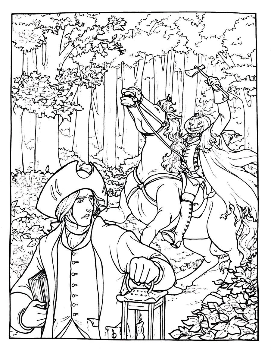 The Legend Of Sleepy Hollow Coloring Page Legend Of Sleepy Hollow Coloring Pages Sleepy Hollow