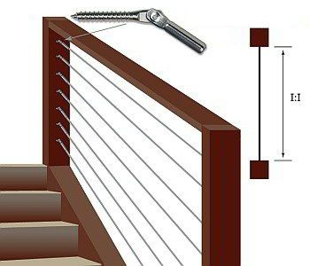500 W Series Cable Railing Kits Are For Stair Or Pitched Runs. Simple DIY  Installation In Wood Posts.