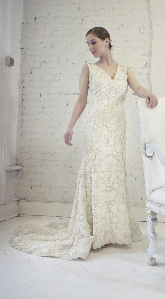 Oscar De La A Wedding Dress Mermaid Silk