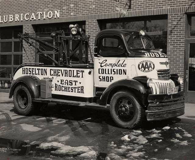 1941 47 Chevy Dealership Coe Dually Tow Truck Wrecker Period