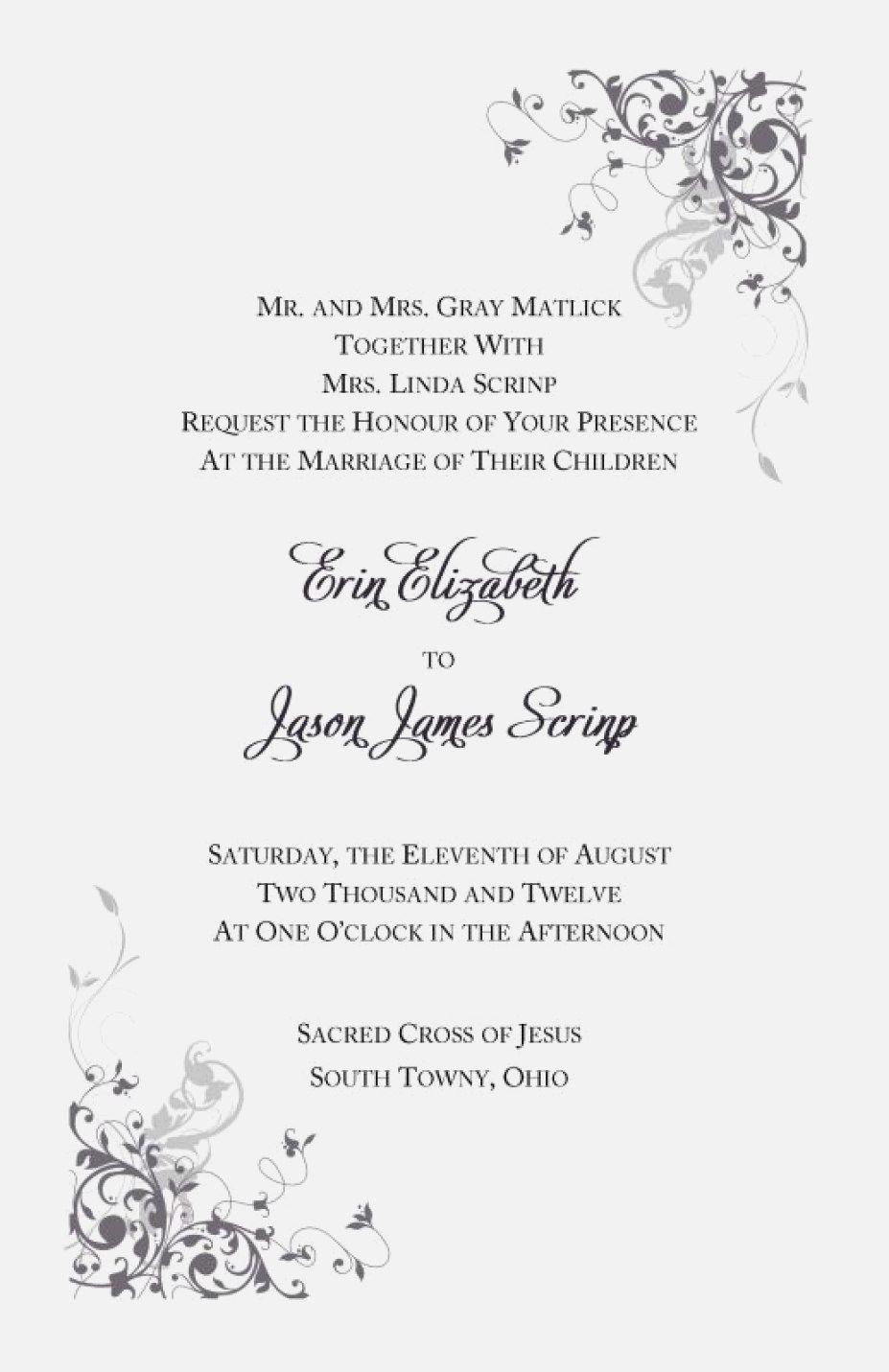 Catholic Wedding Invitation Wording Catholic Wedding Invitations Wedding Reception Invitation Wording
