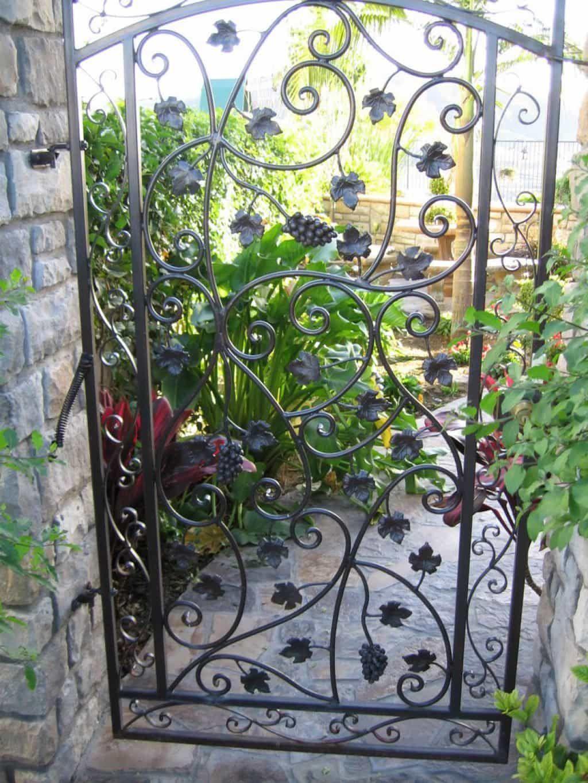 Vines Wrought Iron Garden Gates Wrought Iron Garden Gates Iron