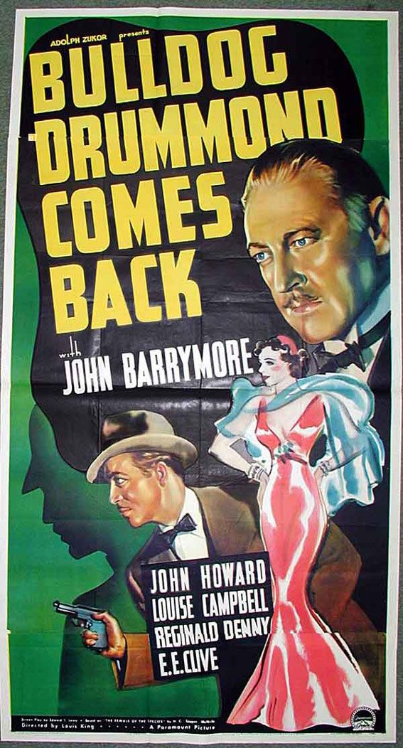 """BULLDOG DRUMMOND COMES BACK"" MOVIE POSTER"