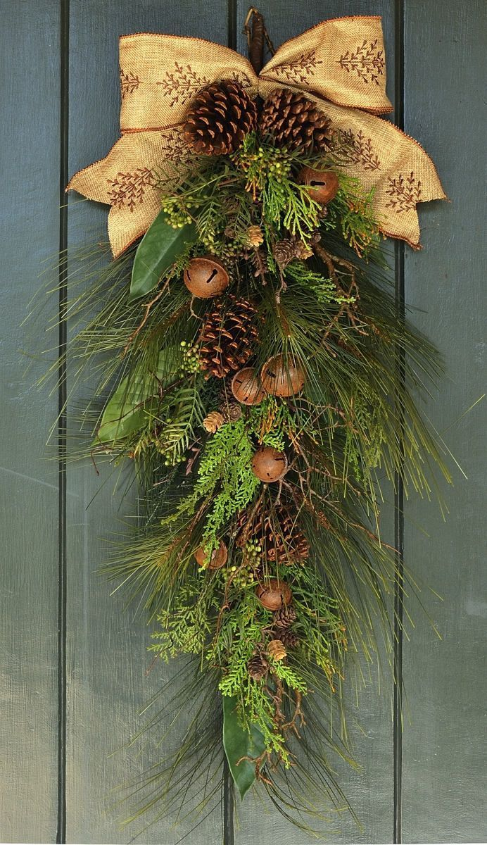 Photo of Christmas Wreath, Rustic Winter Swag, Christmas, Winter, Winter Swag, Christmas Swag, Tahoe Winter Wreath, Christmas Wreath Front Door