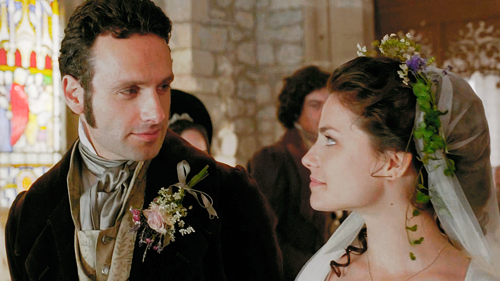 Andrew Lincoln & Charlotte Riley as Edgar Linton and ...