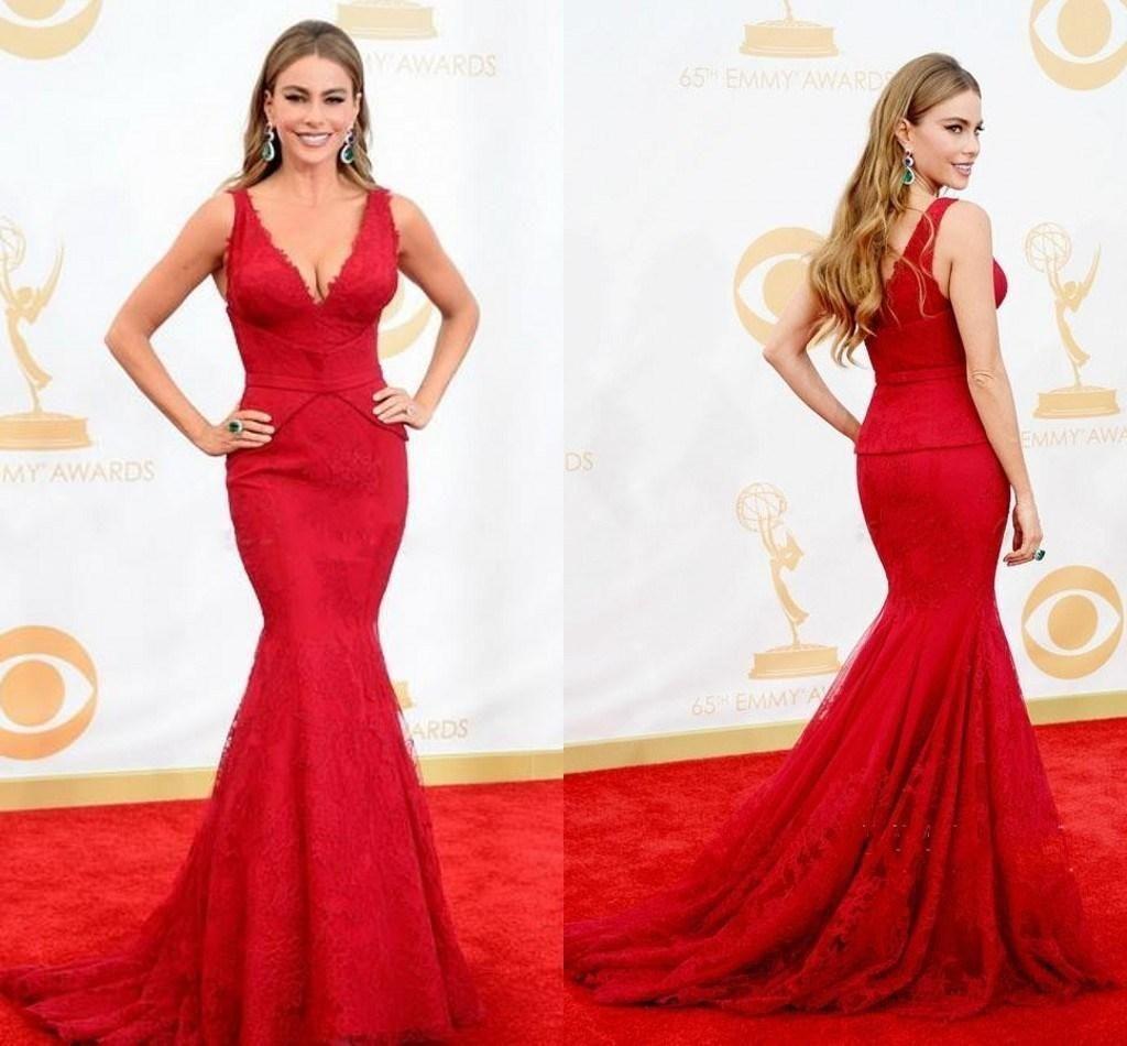 Fashion red mermaid evening dresses spaghetti strtaps zipper mermaid