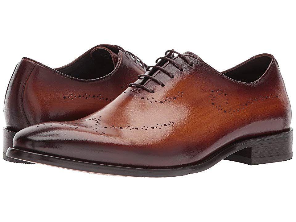 Carrucci Mens Solid Black Apron Toe Leather Dress Shoe