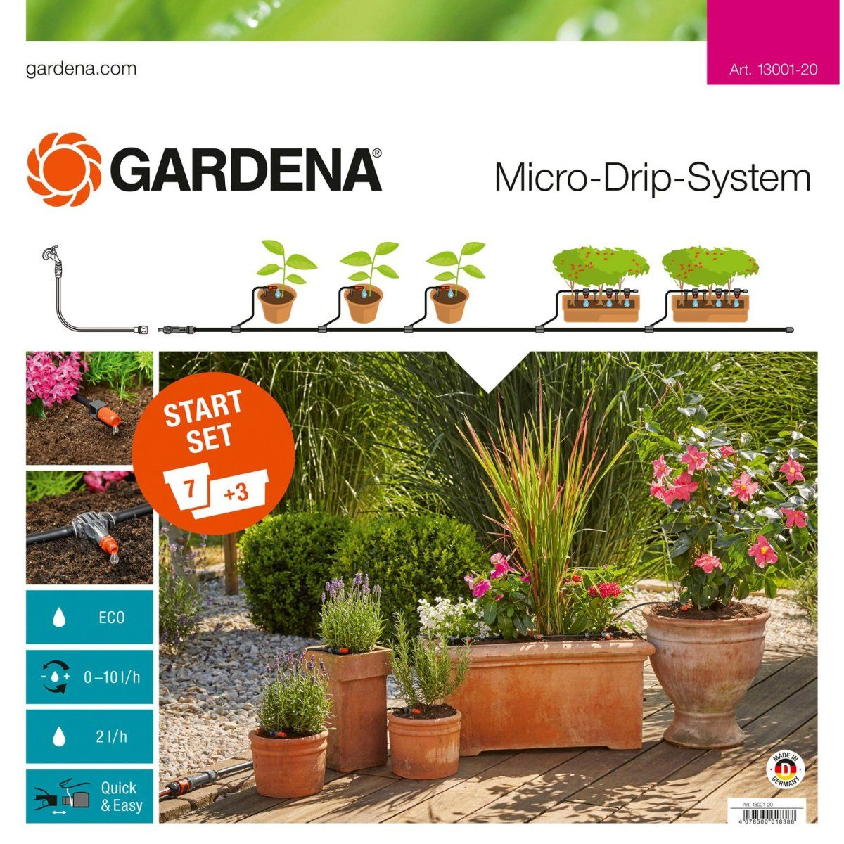 Gardena Mds Start Set Pflanztopfe M Jetzt Bestellen Unter Https Moebel Ladendirekt De Garten Gartenmoeb Pflanzen Micro Drip System Gardena Micro Drip System