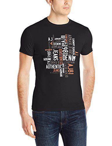 Armani Jeans Men's Slim Fit Water Print Crew Neck T-Shirt... https
