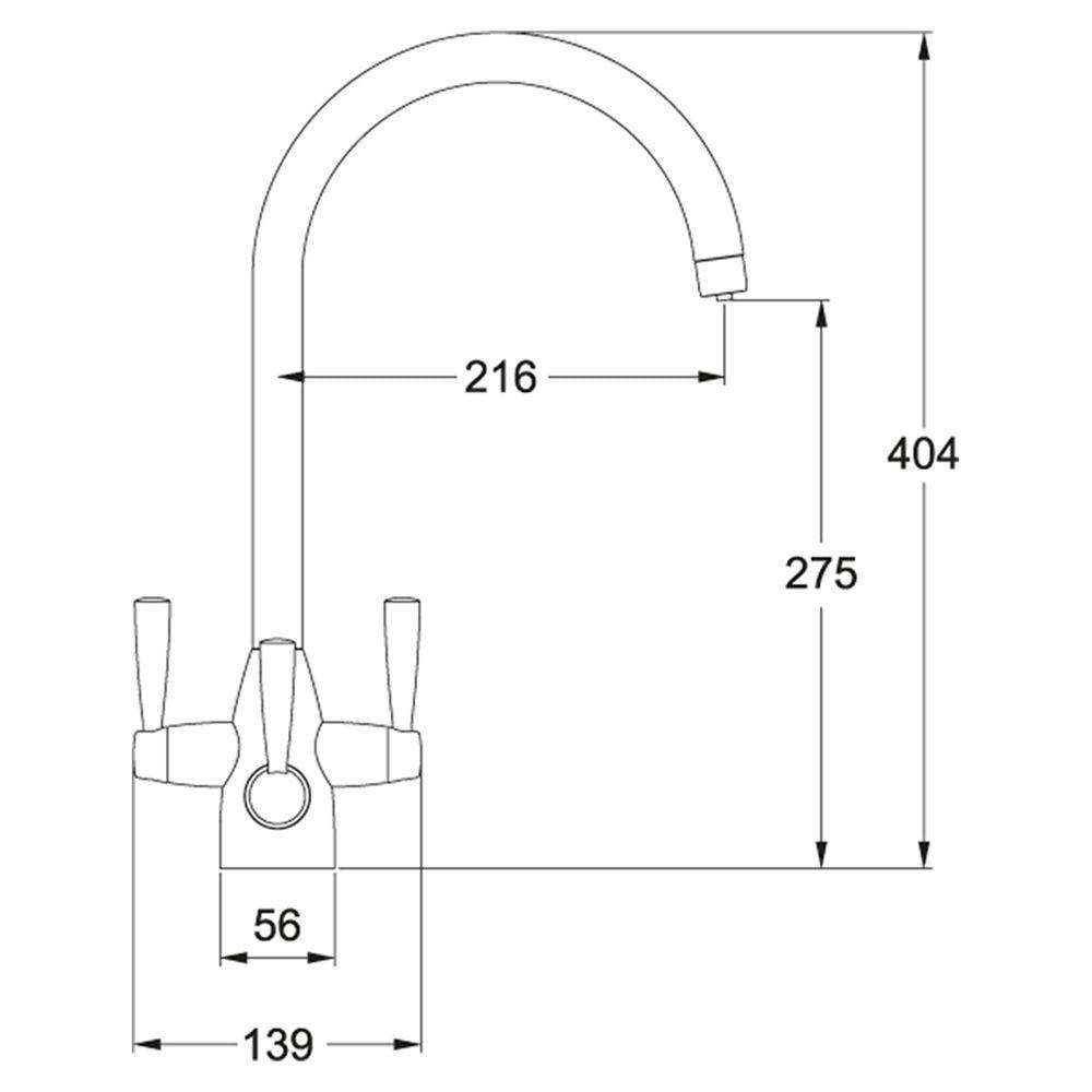 Franke Doric Filter Flow 3 Lever Kitchen Tap