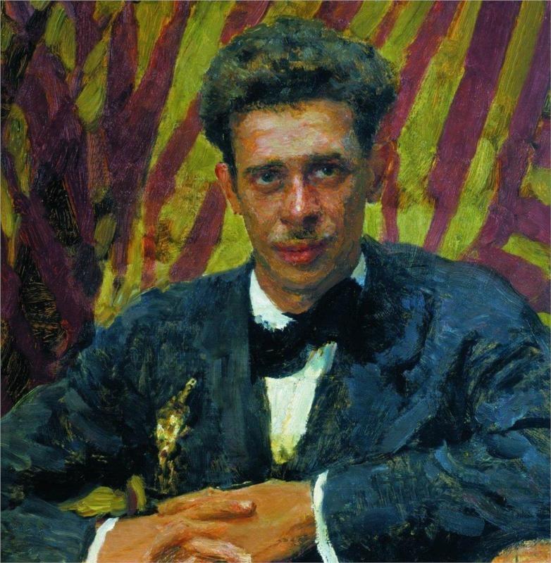 Portrait of Nikolai Remizov, 1917 Ilya Repin