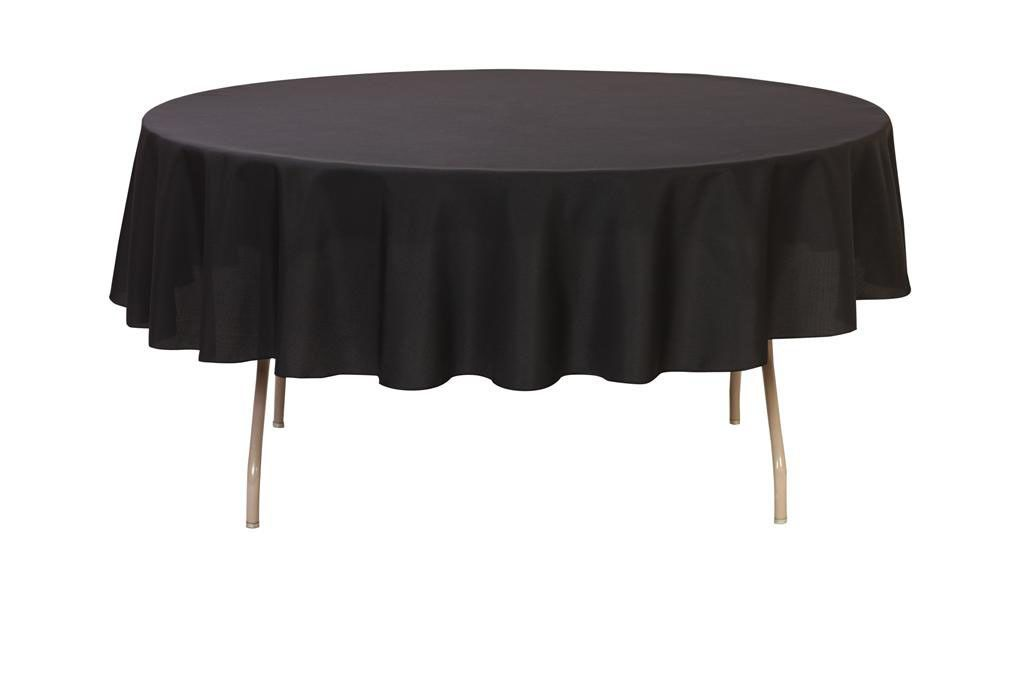 90 Inch Round Polyester Tablecloth Black Table Cloth Round Table Covers Round Tablecloth
