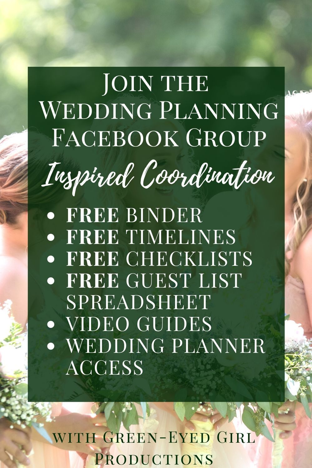 Wedding Planning Facebook Group | Inspired Coordination - Green-Eyed Girl Productions