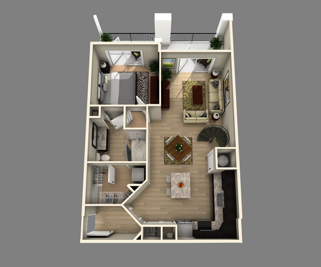 One Floor Apartments 20' x 24' floor plan - google search | projects to try | pinterest