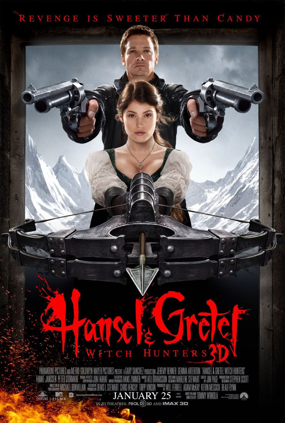Hansel Gretel Witch Hunters 2013 Glorious Movie Posters In 2019 Hunter Movie Movie Posters Internet Movies