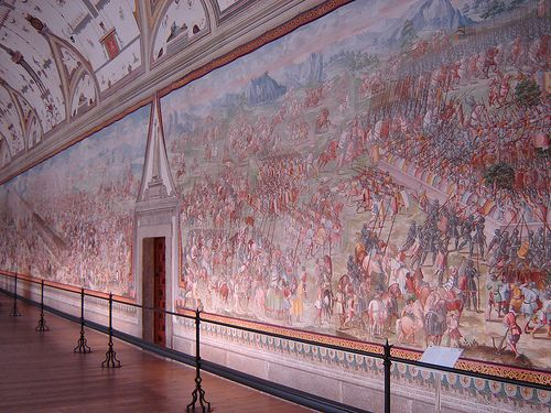 Hall Of Battles Fresco Paintings Here Depict The Most Important Spanish Military Victories These Include A Medieval Victory El Escorial Madrid Spain Madrid