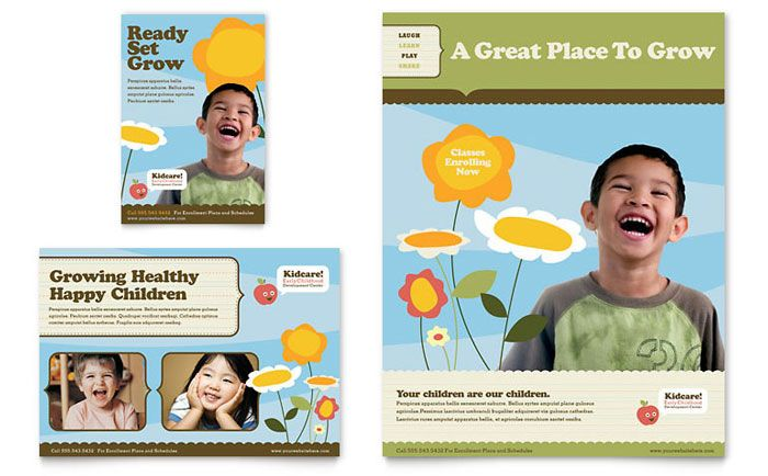 preschool advertising ideas Daycare Advertisements \ Flyers for - school brochure template