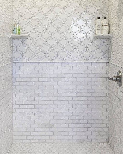 12 Marble Floor Designs For Styling Every Home: Tempesta Neve Polished Wheaton Marble Mosaic Tile