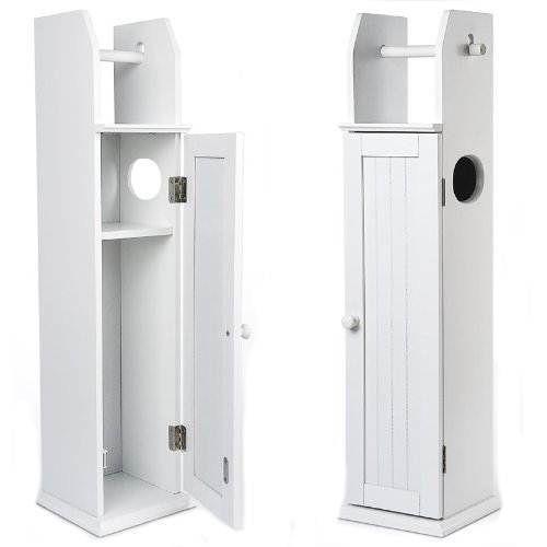 Bathroom Storage Cabinet Ebay floor standing white wooden toilet paper roll holder bathroom